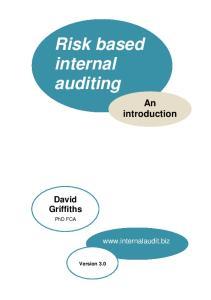 Risk based internal auditing