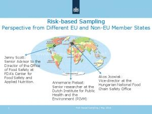 Risk-based Sampling Perspective from Different EU and Non-EU Member States
