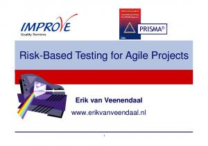 Risk-Based Testing for Agile Projects
