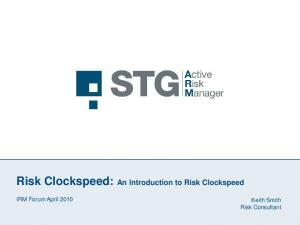 Risk Clockspeed: An Introduction to Risk Clockspeed