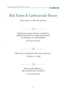 Risk Factors & Cardiovascular Disease