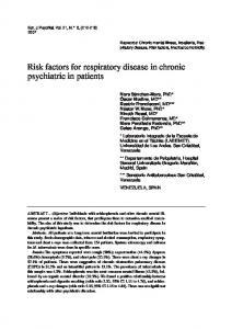 Risk factors for respiratory disease in chronic psychiatric in patients
