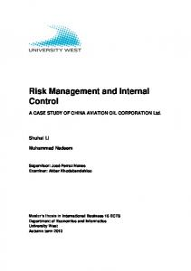 Risk Management and Internal Control