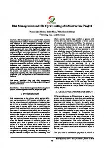 Risk Management and Life Cycle Costing of Infrastructure Project