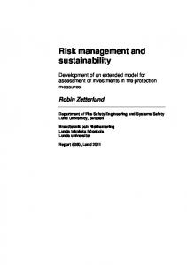 Risk management and sustainability