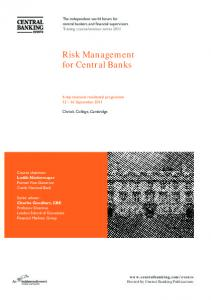 Risk Management for Central Banks
