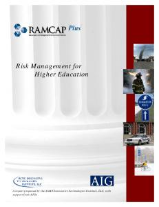 Risk Management for Higher Education