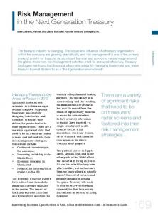Risk Management in the Next Generation Treasury