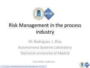 Risk Management in the process industry