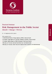 Risk Management in the Public Sector