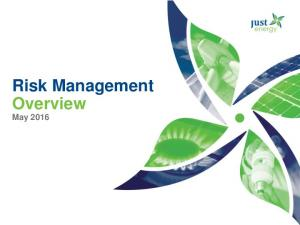 Risk Management Overview. May 2016