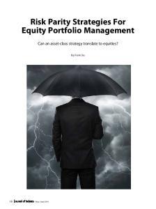 Risk Parity Strategies For Equity Portfolio Management