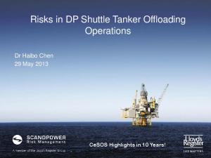 Risks in DP Shuttle Tanker Offloading Operations
