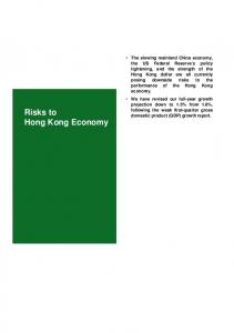 Risks to Hong Kong Economy