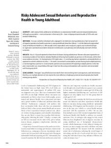 Risky Adolescent Sexual Behaviors and Reproductive Health in Young Adulthood