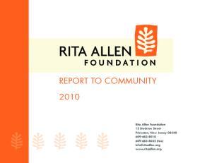 Rita Allen Foundation 12 Stockton Street Princeton, New Jersey (fax)