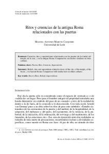 Ritos y creencias de la antigua Roma relacionados con las puertas