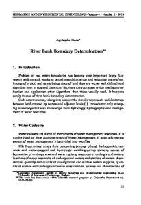 River Bank Boundary Determination**
