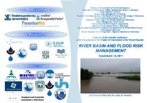 RIVER BASIN AND FLOOD RISK MANAGEMENT