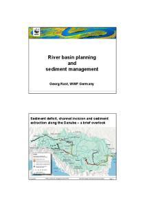 River basin planning and sediment management