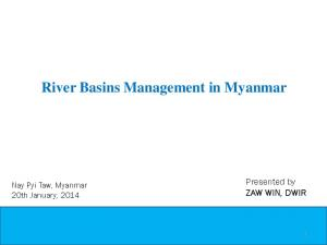 River Basins Management in Myanmar