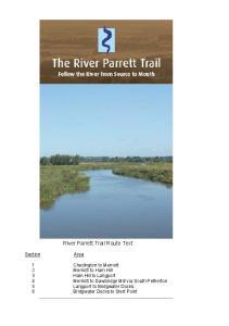 River Parrett Trail Route Text