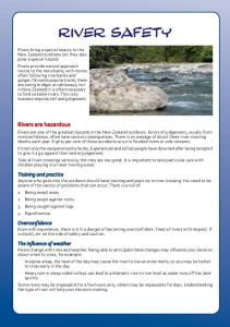 RIVER SAFETY. Rivers are hazardous
