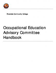 Riverside Community College. Occupational Education Advisory Committee Handbook
