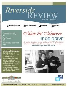 Riverside REVIEW. Welcome New Residents pg 3