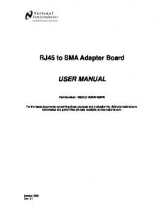 RJ45 to SMA Adapter Board USER MANUAL