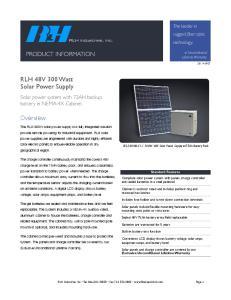 RLH 48V 300 Watt Solar Power Supply