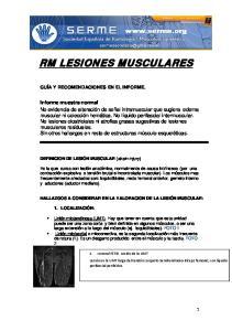 RM LESIONES MUSCULARES