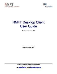 RMFT Desktop Client User Guide