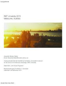 RMT University 2015 Melbourne, Australia