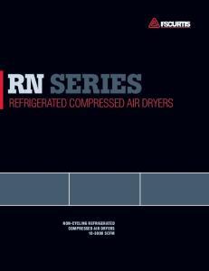 RN Series. Refrigerated compressed air Dryers. non-cycling refrigerated compressed air dryers