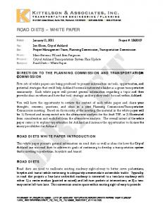 ROAD DIETS WHITE PAPER