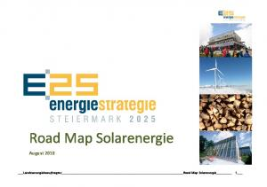 Road Map Solarenergie