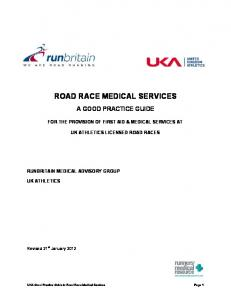 ROAD RACE MEDICAL SERVICES