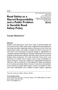Road Safety as a Shared Responsibility and a Public Problem in Swedish Road Safety Policy