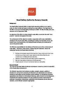 Road Safety Authority Bursary Awards
