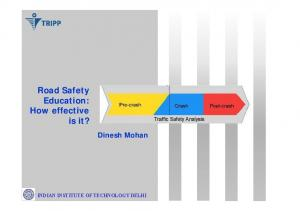 Road Safety Education: How effective is it?