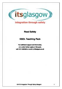 Road Safety. ESOL Teaching Pack