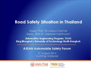 Road Safety Situation in Thailand