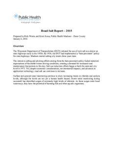 Road Salt Report 2015