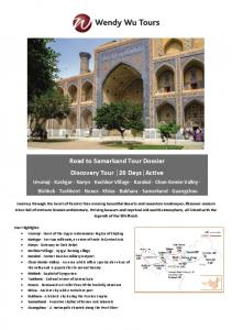 Road to Samarkand Tour Dossier Discovery Tour 26 Days Active