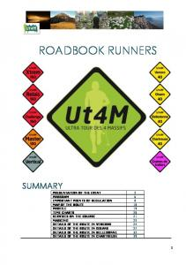 ROADBOOK RUNNERS SUMMARY