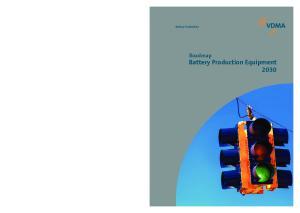 Roadmap Battery Production Equipment 2030 Battery Production VDMA Battery Production