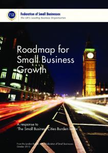 Roadmap for Small Business Growth