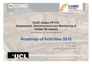 Roadmap of Activities 2015