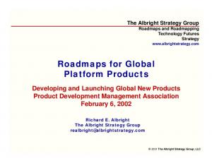 Roadmaps for Global Platform Products